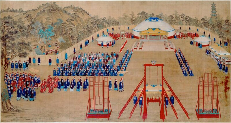 Imperial Banquet in the Garden of Ten Thousand Trees, Qing dynasty, Qianlong period, 1755