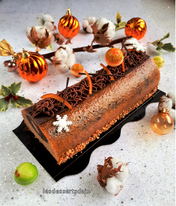 Cake marbré orange Grand Marnier 1