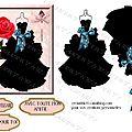 Copie de robe noire et rose