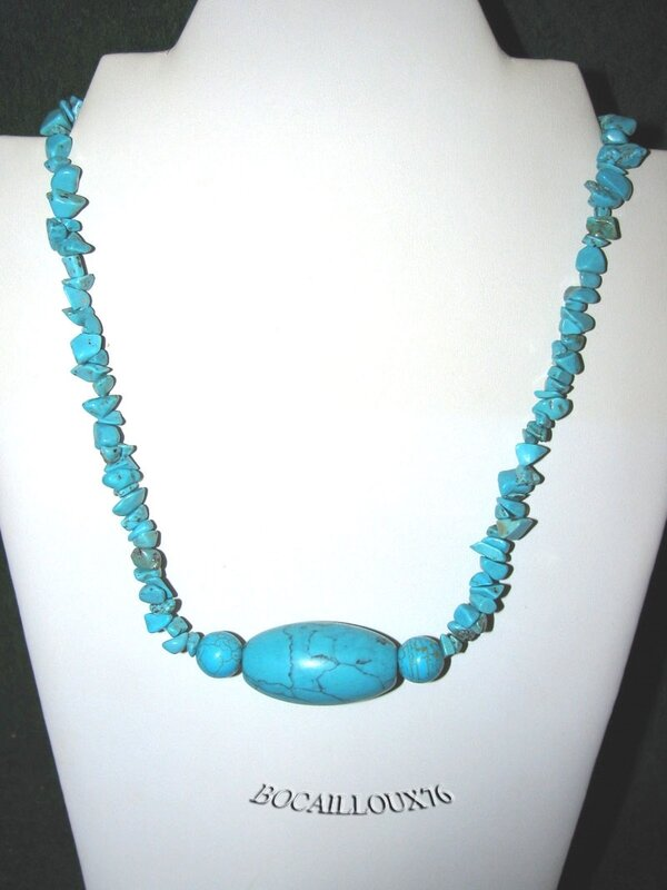 Collier HOWLITE Turquoise 2 (2)