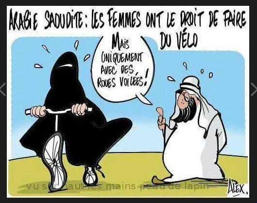 islam arabie saoudite humour vélo burka voile