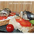 Sardines vapeur en tartinade de chèvre frais (thermomix tm 5 )