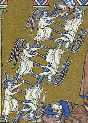 l'échelle de Jacob, Bible Morgan, 1240
