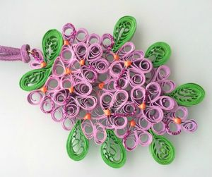 collier quil lilas 1