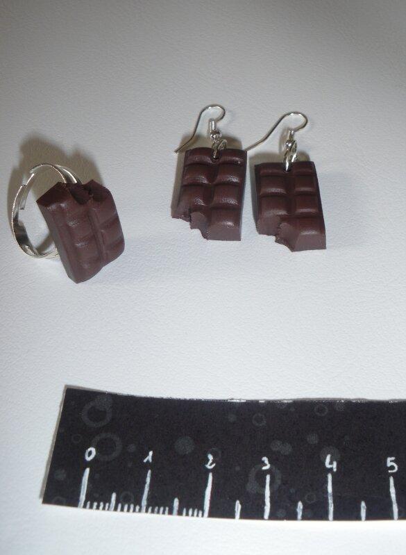 BO et bague chocolat croqué