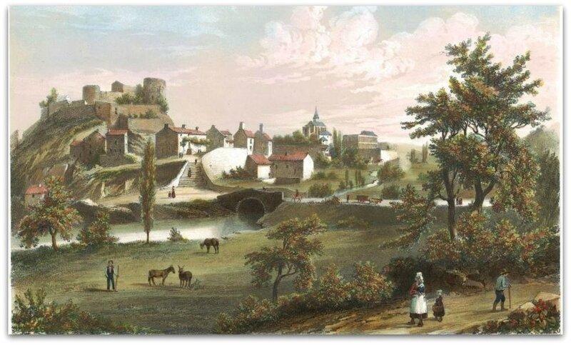 Châtillon-sur-Sèvre - 1845 - de Wismes z