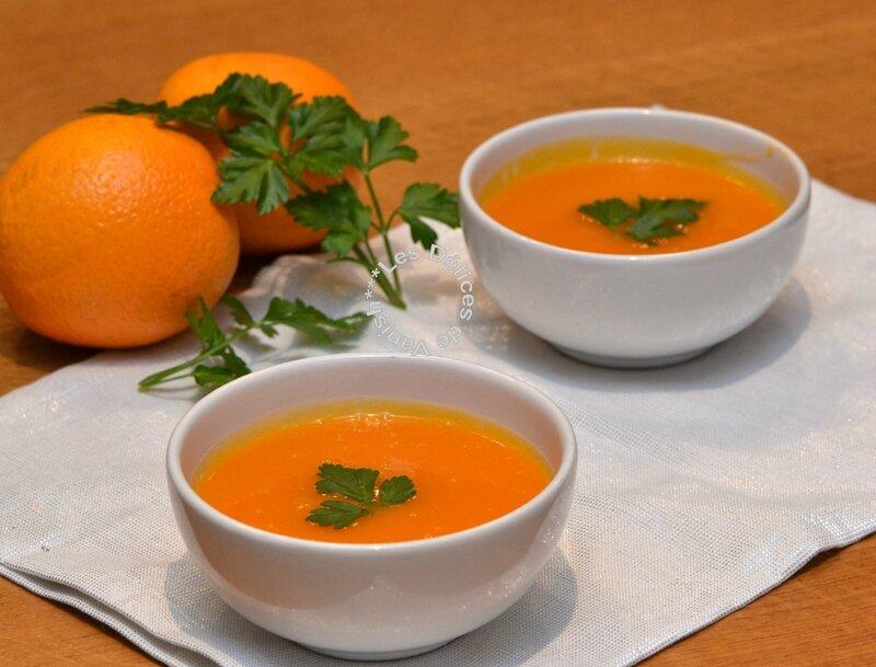 soupe détox à l'orange, recette détox, soupe aux ingrédients vitaminés