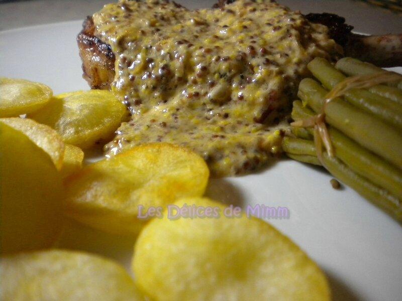 Côtes de porc ibérique (Iberico) à la moutarde à l'ancienne 5