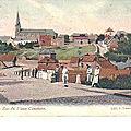 Pâturages - Rue Eglise - carte ancienne