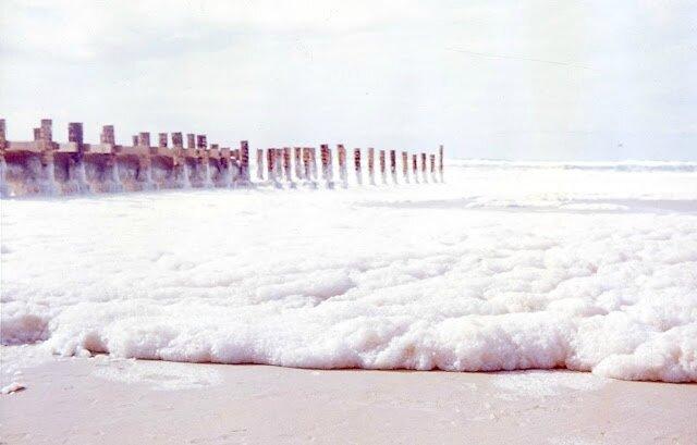 1971-Premiers rejets sur la plage de La Salie