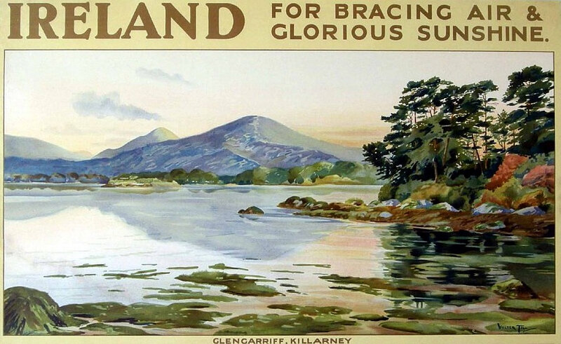 900_Walter Till Ireland Great Southern Railways vintage posteru