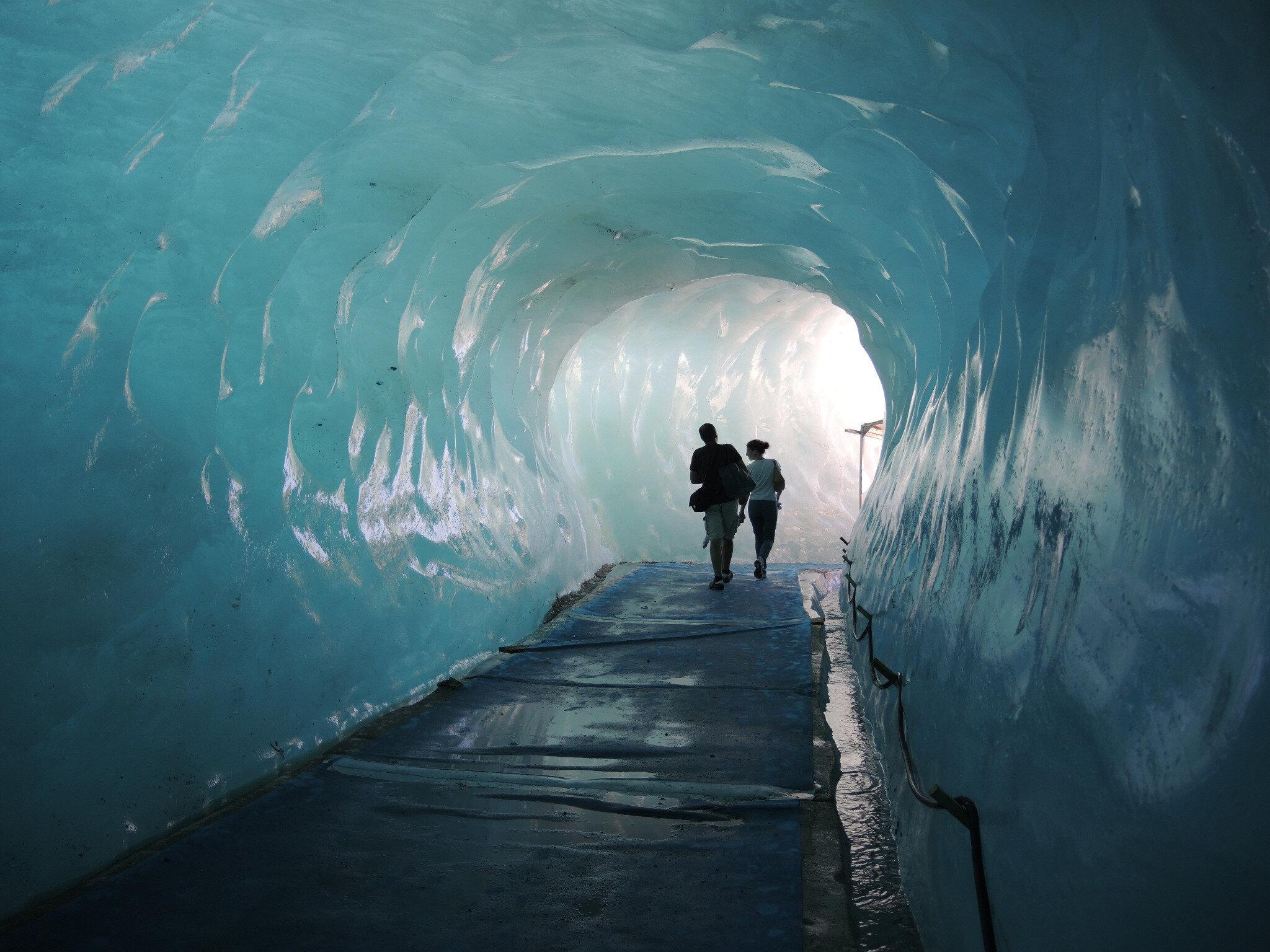 Chamonix, la Mer de Glace, la grotte, intérieur