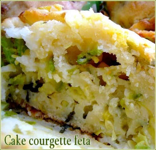 cake courgette interieur