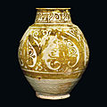 A rare and intact fatimid lustre jar, egypt, 10th-11th century