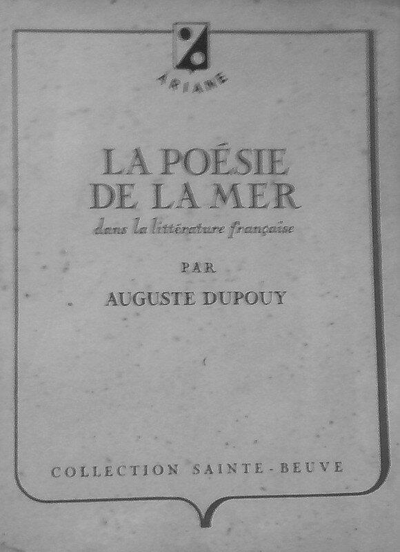 La Poésie de la Mer dans la Littérature Française ...