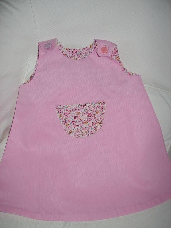 robe tapèze rose