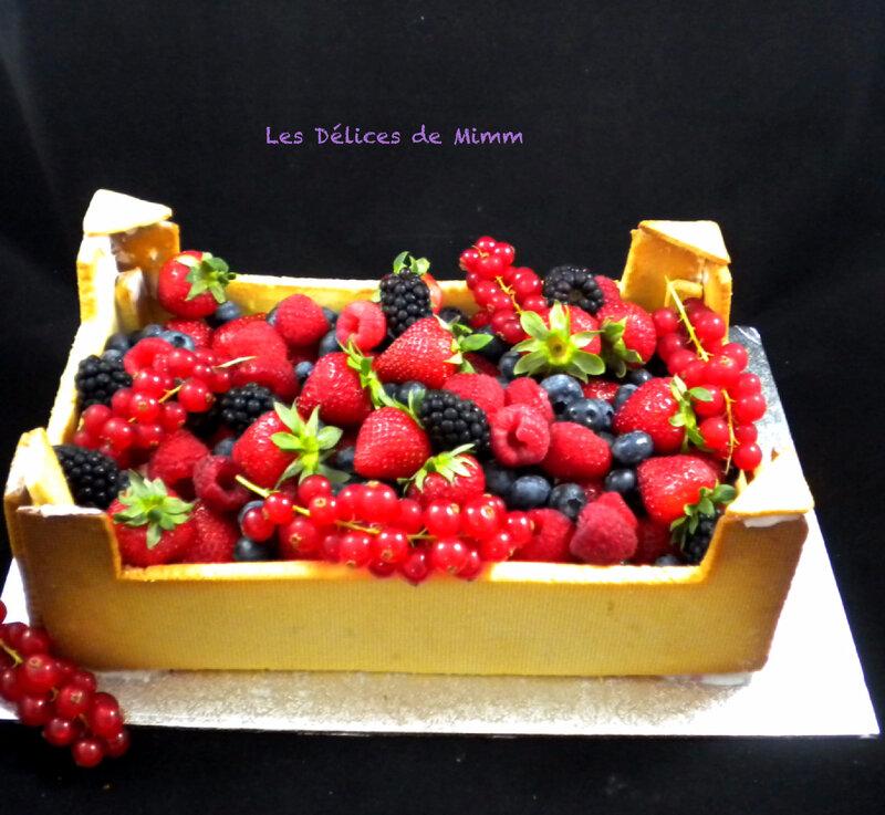 Mon gâteau Cagette de fruits