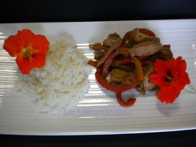 Dés de poulet et légumes sautés à la thaï 2