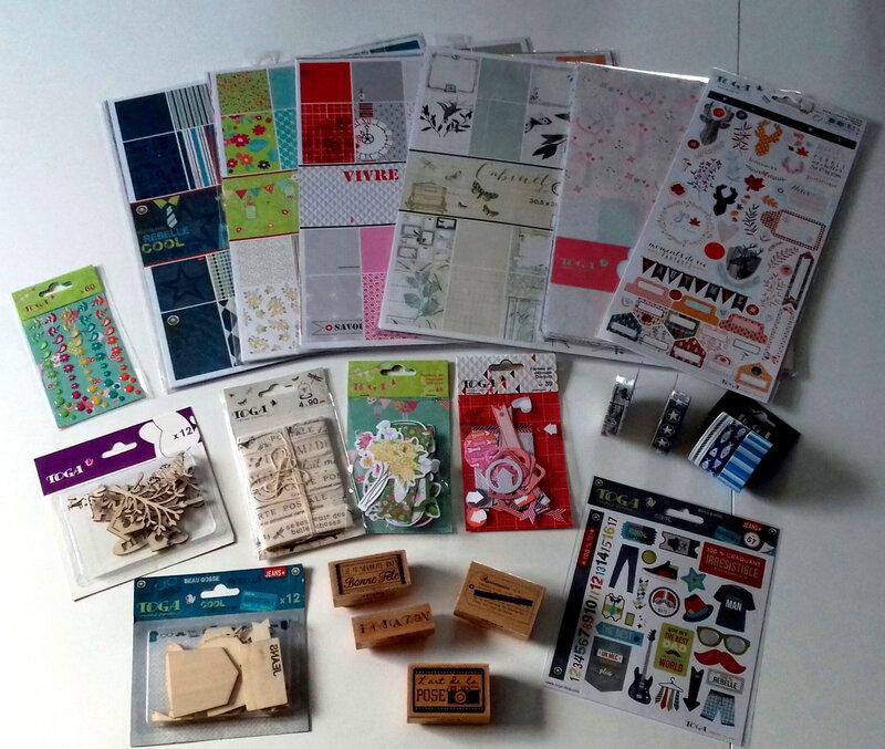 Lot de matériel offert par Passion Cartes Créatives et Toga
