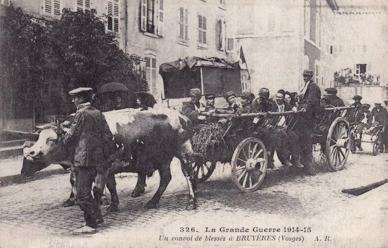 Bruyères, convoi de blessés, 1915