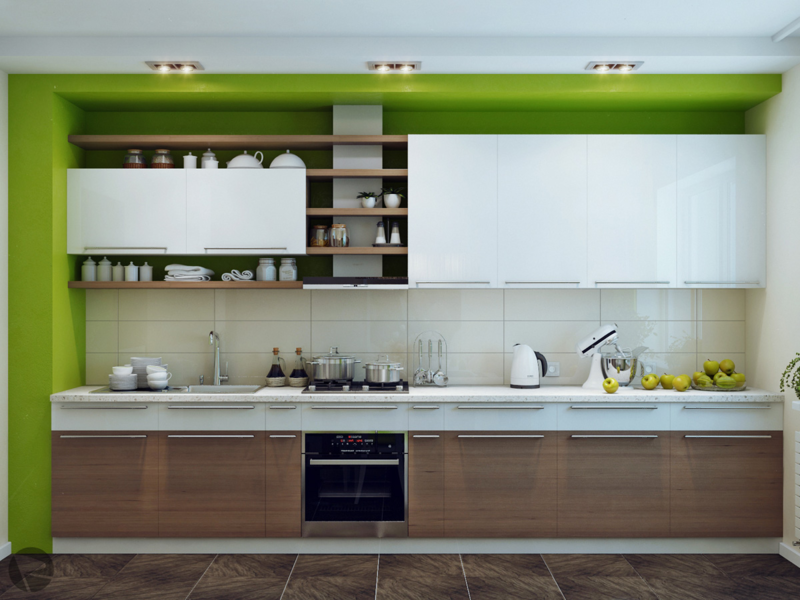D cuisines by HOMEDISIGNING 8-Green-white-wood-kitchen (19)