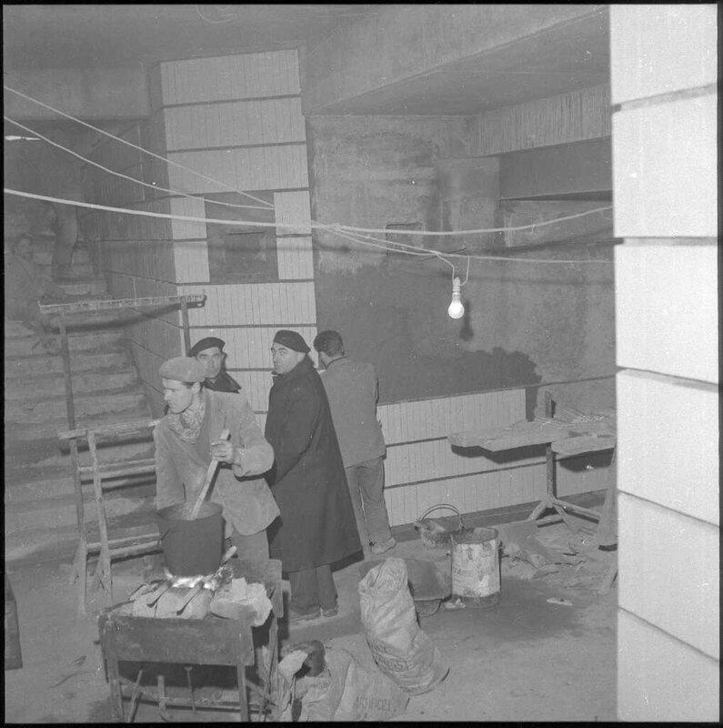 gare viotte travx souterrains janvier 61