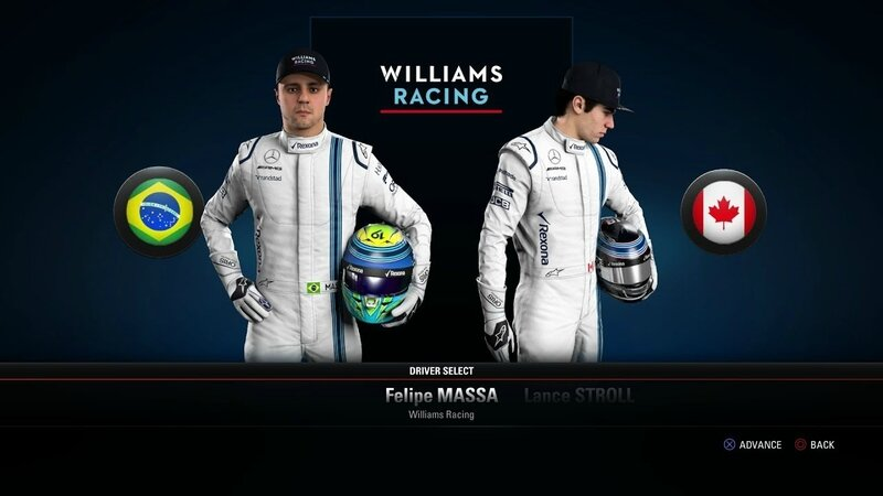 WILLIAMS RACE DAY BRAZIL MASSA STROLL