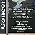 La messe pour la paix par le chœur unisson