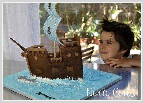 gâteau bateau pirate pate à sucre 2