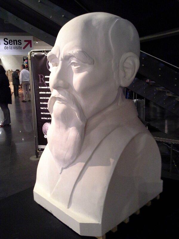 Fulbert DUBOIS sculpteur - portrait buste monumental pierre O sensei Ueshiba Aikido
