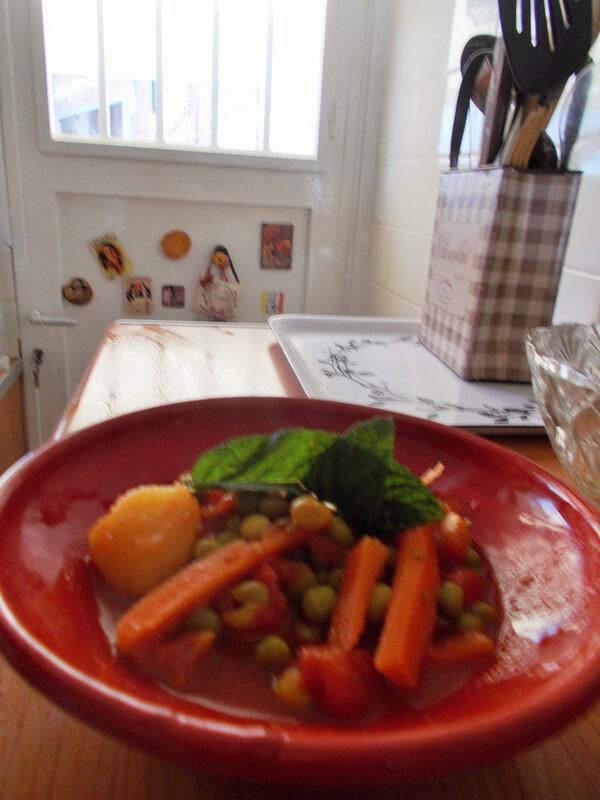 petits pois carottes pdt tomates menthe thym