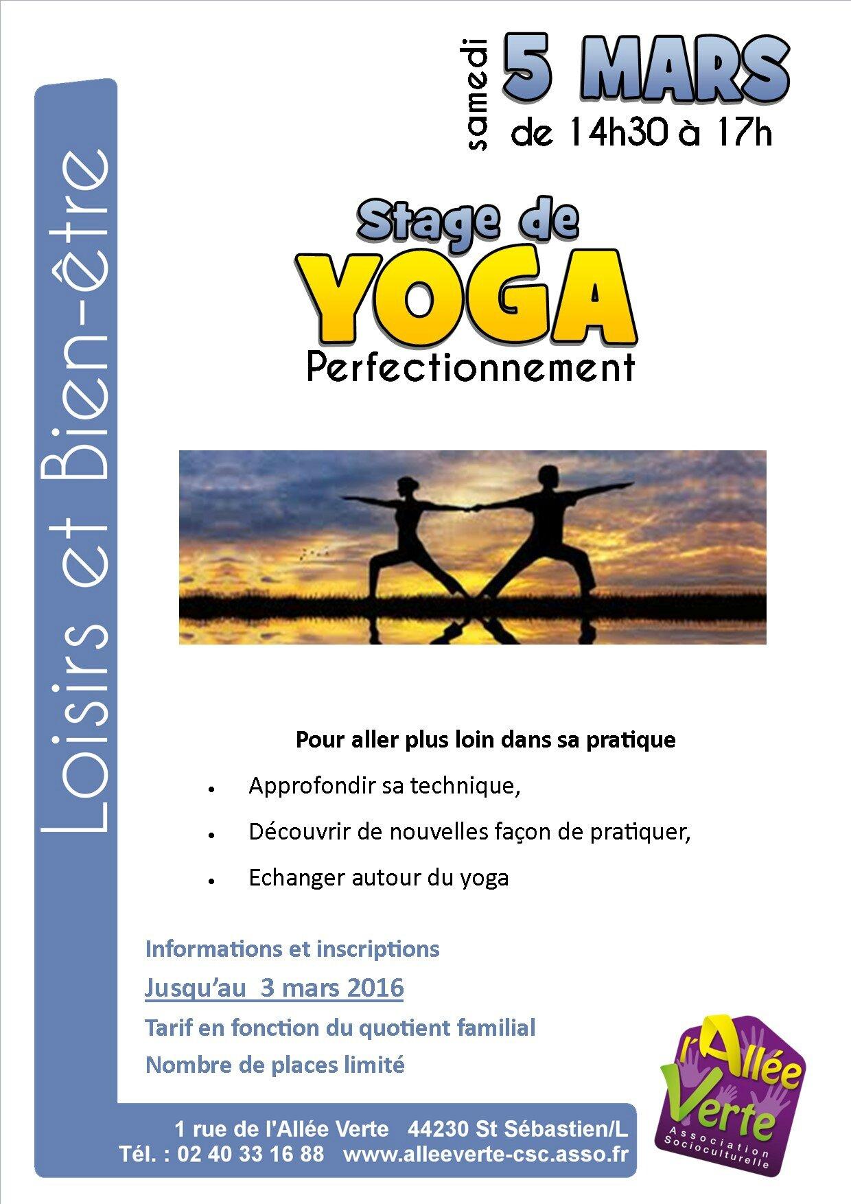 Atelier de yoga :