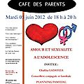 Cafe des parents - maison des ados