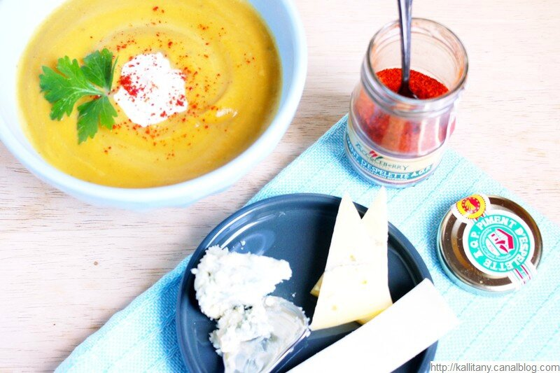 Blog culinaire Kallitany - Velouté patate douce potiron et fromages (1)