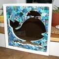 baleine collage bleu (vendu)