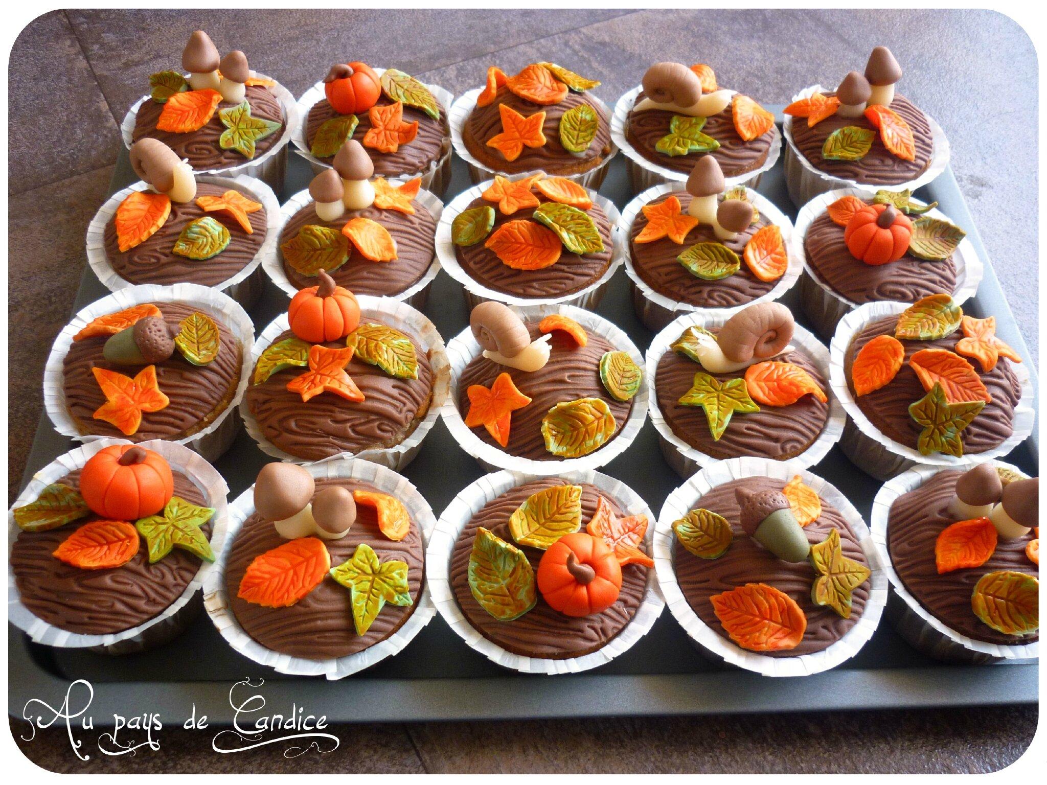 Deco D Automne Facile muffins d'automne à la crème de marron - au pays de candice