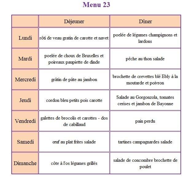 menu 23
