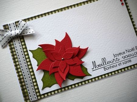 détail carte poinsettia