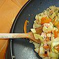 Wok de legumes et crevettes