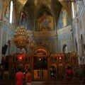 Vue intérieure de l'église à Cargèse