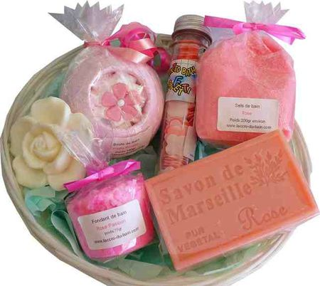 Corbeille de Bain Rose Passion