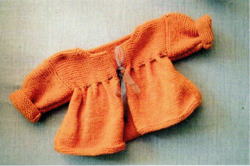 Cardigan AZEMIE 3-6 mois, 6-9 mois, 9-12 mois ( aux points de jersey et mousse)