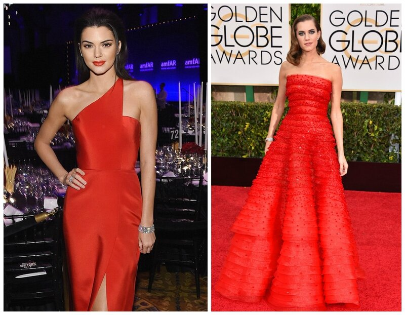 Kendall Jenner en rouge_et Allison Williams