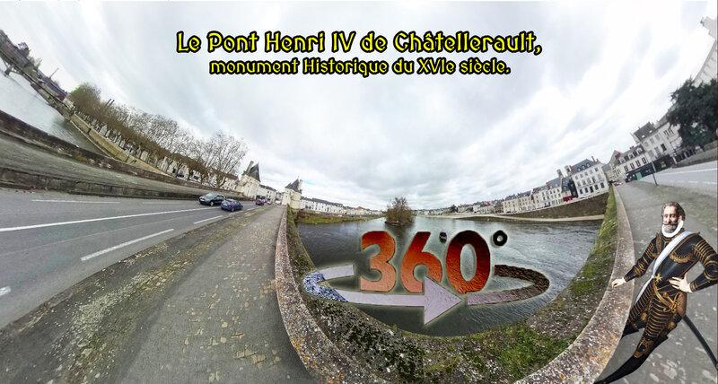 Le Pont Henri IV de Châtellerault, monument Historique du XVIe siècle