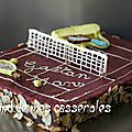 Gâteau court de tennis