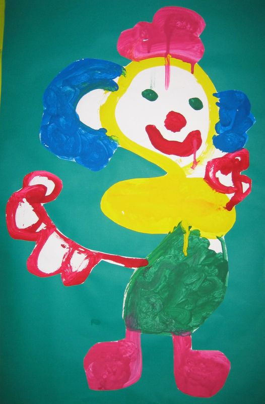 clown gouache