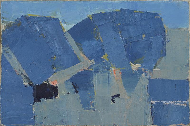 Nicolas de Staël, Arbre, 1953, huile sur toile, 22 x 33 cm, collection particulière, CR 649
