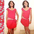 La robe du 14 juillet : du lin rouge, du liberty, et de l'impro !