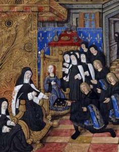 Claude de France dans un scène de dédicace, BnF
