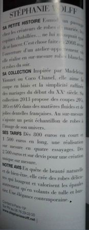 STEPHANIE WOLFF PARIS - OUI - LE MARIAGE AUTREMENT